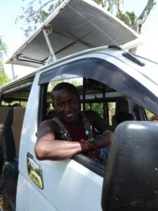 Maasai Guide in Car
