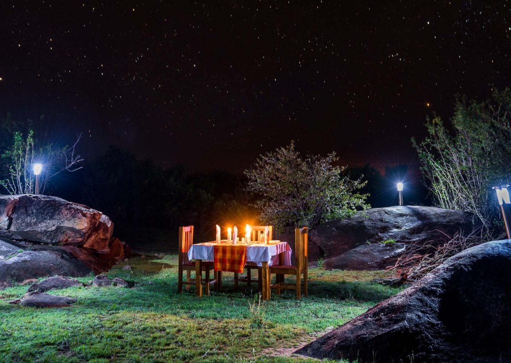 Bush DInner in the Mara